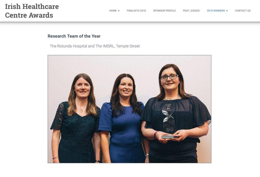Winners of Research Team of the Year 2018